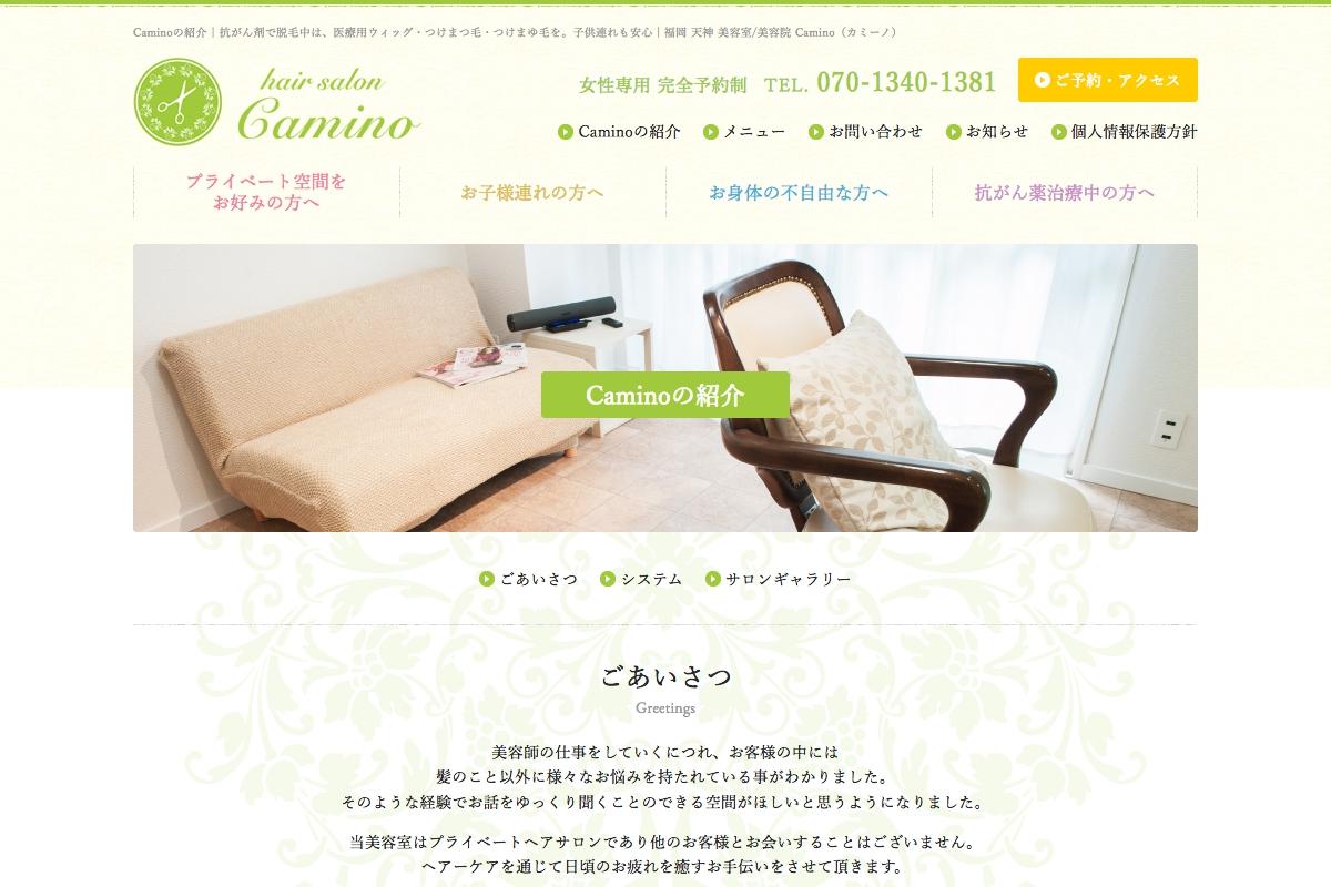 [写真]WEB Camino WEBサイト 2