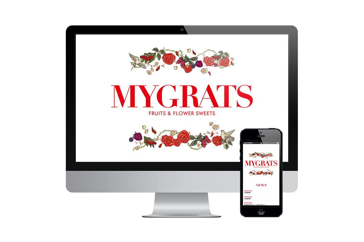 [撮影・制作実績]WEB MYGRATS WEBサイト