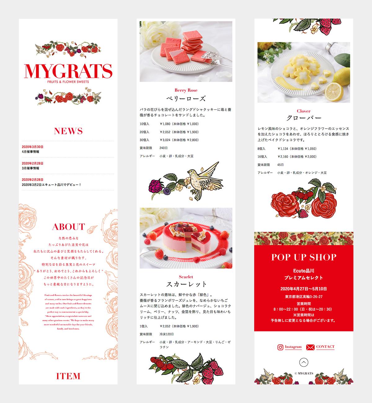[写真]WEB MYGRATS WEBサイト 2